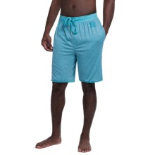 Buffalo by David Bitton Marled Jersey Drawstring Lounge Shorts (For Men) in Maui Blue - Closeouts