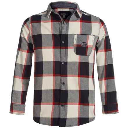 Buffalo David Bitton Cannon Flannel Shirt - Long Sleeve (For Big Boys) in Cannon - Closeouts