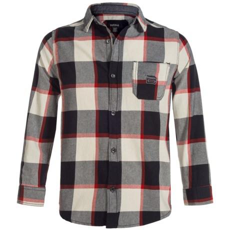 Buffalo David Bitton Cannon Flannel Shirt - Long Sleeve (For Big Boys) in Cannon