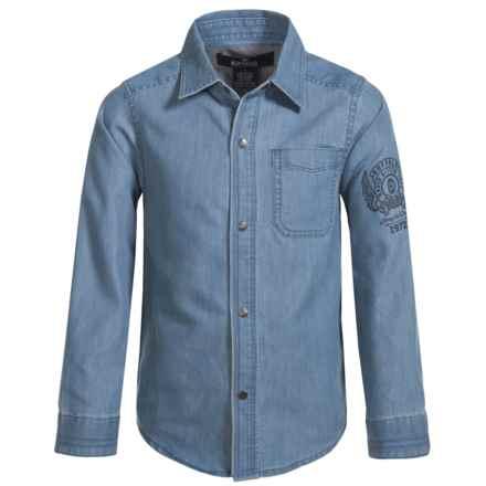 Buffalo David Bitton Felix Chambray Shirt - Snap Front, Long Sleeve (For Little Boys) in Indigo - Closeouts