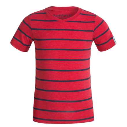 Buffalo David Bitton Kellani T-Shirt - V-Neck, Short Sleeve (For Little Boys) in Hot Red Heather - Closeouts