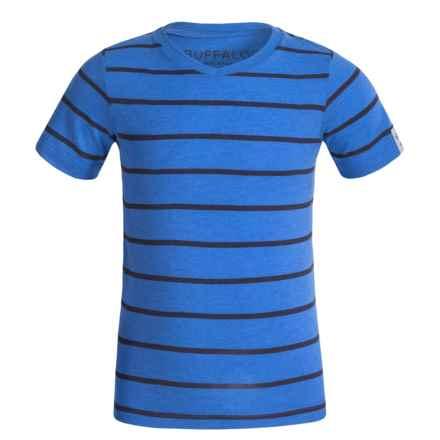 Buffalo David Bitton Kellani T-Shirt - V-Neck, Short Sleeve (For Little Boys) in Star Sapphire Heather - Closeouts