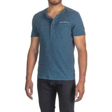 Buffalo David Bitton Nabob Henley T-Shirt - Short Sleeve (For Men) in Agate - Closeouts