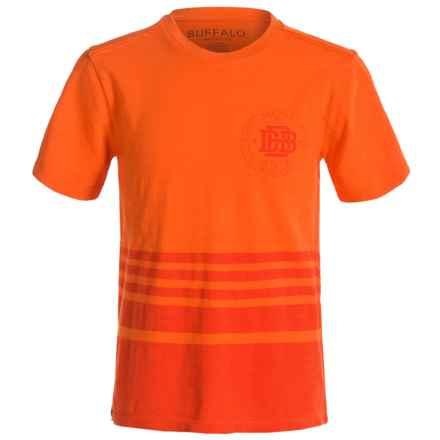 Buffalo David Bitton Namas T-Shirt - Short Sleeve (For Big Boys) in Orange Sun - Closeouts