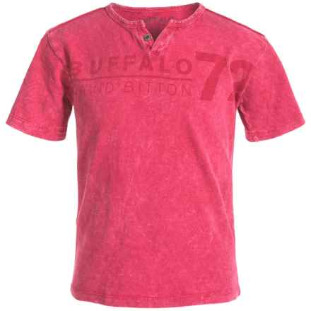 Buffalo David Bitton Naroo T-Shirt - Short Sleeve (For Big Boys) in Hot Red - Closeouts