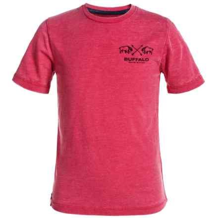 Buffalo David Bitton Natri T-Shirt - Short Sleeve (For Big Boys) in Brick - Closeouts