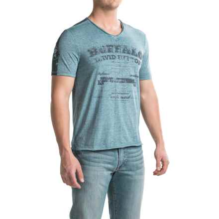 Buffalo David Bitton Nielsen T-Shirt - Short Sleeve (For Men) in Heather Agate - Closeouts