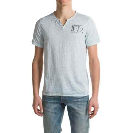 Buffalo David Bitton Nuhan T-Shirt - Short Sleeve (For Men) in Heather Azul - Closeouts