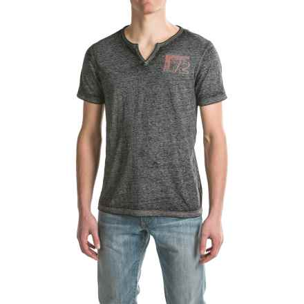 Buffalo David Bitton Nuhan T-Shirt - Short Sleeve (For Men) in Heather Black - Closeouts