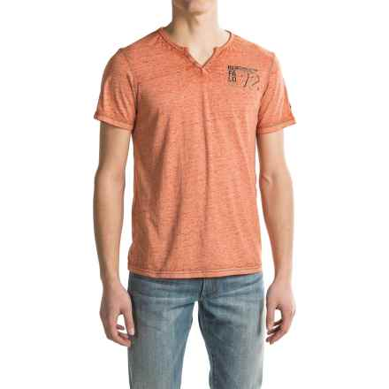 Buffalo David Bitton Nuhan T-Shirt - Short Sleeve (For Men) in Heather Chipotle - Closeouts