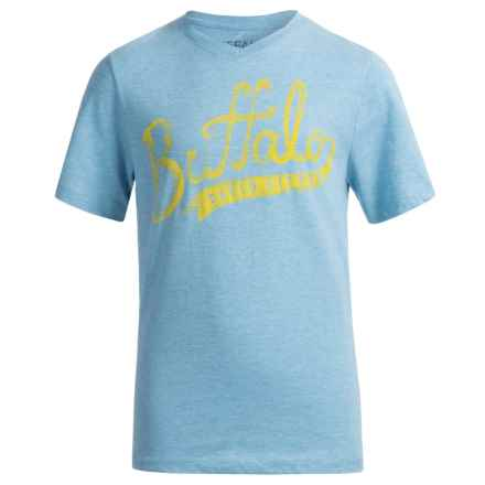 Buffalo David Bitton Pina T-Shirt - Short Sleeve (For Big Boys) in Azul Heather - Closeouts