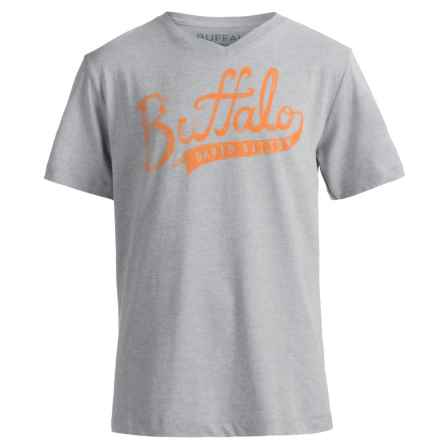 Buffalo David Bitton Pina T-Shirt - Short Sleeve (For Big Boys) in Grey Heather - Closeouts