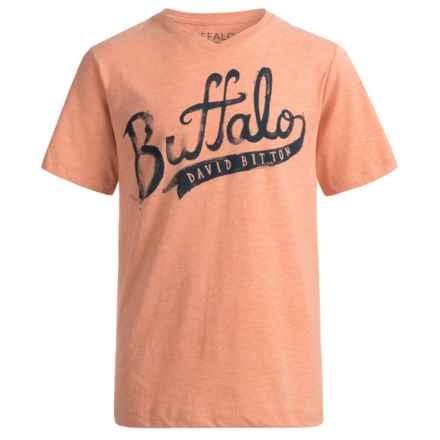 Buffalo David Bitton Pina T-Shirt - Short Sleeve (For Big Boys) in Mandarin Orange Her - Closeouts