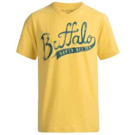 Buffalo David Bitton Pina T-Shirt - Short Sleeve (For Big Boys) in Super Lemon Heather - Closeouts