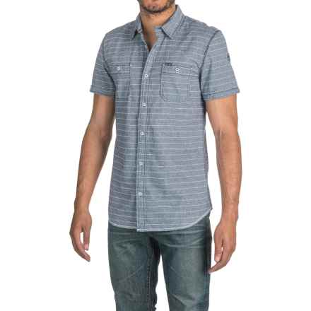 Buffalo David Bitton Sameer Shirt - Short Sleeve (For Men) in Whale Combo - Closeouts