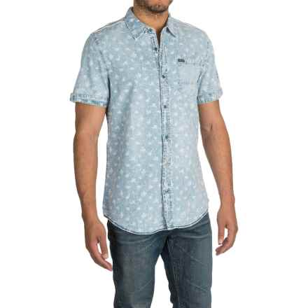 Buffalo David Bitton Samson Shirt - Short Sleeve (For Men) in Sand Flowers Combo - Closeouts