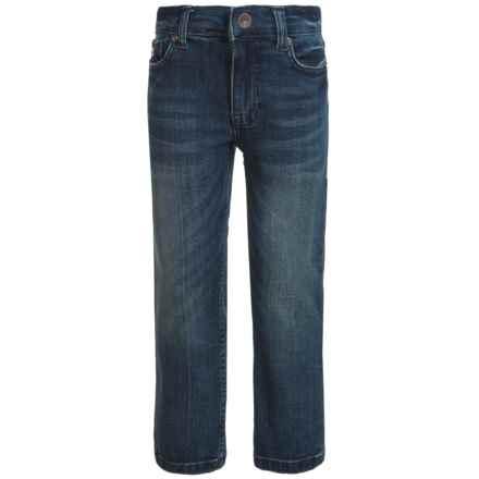 Buffalo David Bitton Six-X Stretch Jeans - Slim Fit, Straight Leg (For Little Boys) in Light Medium Wash - Closeouts