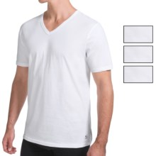 Buffalo David Bitton Stretch Cotton V-Neck T-Shirt - 4-Pack, Short Sleeve (For Men) in White - Closeouts