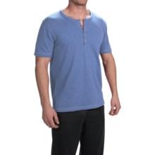 Buffalo David Bitton Subyarn Terry Henley Shirt - Short Sleeve (For Men) in Dutch Blue - Closeouts