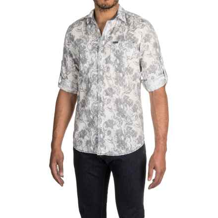 Buffalo David Bitton Sylvert Shirt - Long Sleeve (For Men) in Navy Flowers Print - Closeouts