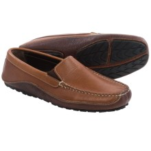 Buffalo Jackson Jackson Driving Moccasins - American Bison Leather (For Men) in Indian Tan/Mahogany - Closeouts