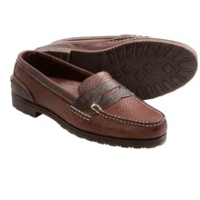 Buffalo Jackson Yosemite Penny Loafer Shoes - Bison Leather (For Men) in Walnut - Closeouts