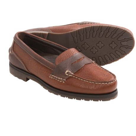 Buffalo Jackson Yosemite Penny Loafer Shoes - Bison Leather, Fully Lined (For Men) in Walnut
