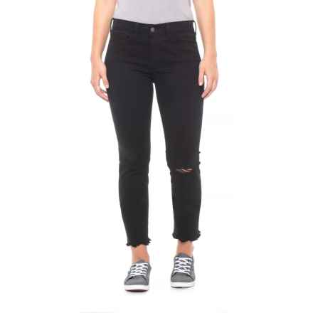 Buffalo Jet Black Faith Ankle Jeans - Mid Rise, Skinny Fit (For Women) in Jet Black - Closeouts
