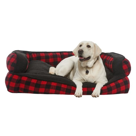 Image of Buffalo Plaid Bolster Dog Bed - 29x43?