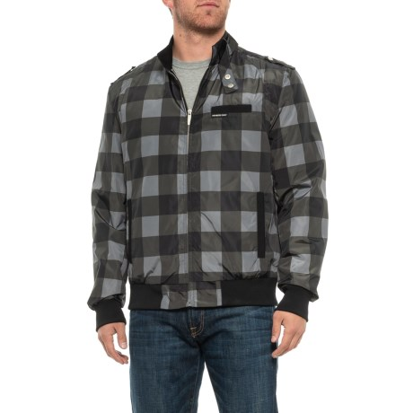 Image of Buffalo Plaid Iconic Racer Jacket - Insulated (For Men)