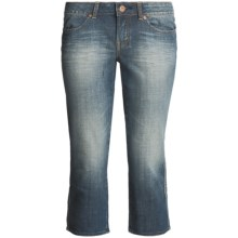 Buffalo Renee Stretch Denim Capri Pants - Low Rise (For Women) in Blue Ivy - Closeouts