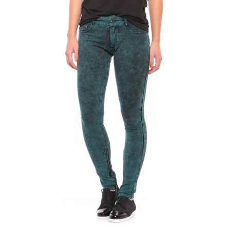 Buffalo Skinny Stretch Pants (For Women) in Wave/Black - Closeouts