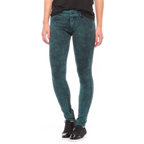 Buffalo Skinny Stretch Pants (For Women) in Wave/Black