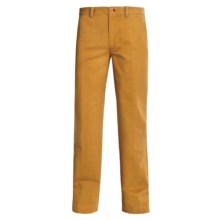 Bugatchi Uomo Cotton Casual Pants - Flat Front (For Men) in Gold - Closeouts