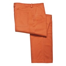 Bugatchi Uomo Cotton Casual Pants - Flat Front (For Men) in Pumpkin - Closeouts