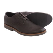 BUKS by Walk-Over Declan Oxford Shoes - Leather (For Men) in Charcoal Full Grain - Closeouts