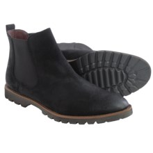 BUKS by Walk-Over Donovan Chelsea Boots - Suede (For Men) in Black Oiled Suede - Closeouts