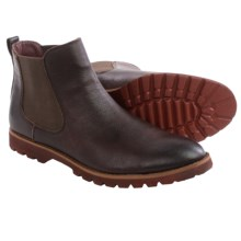 BUKS by Walk-Over Donovan Chelsea Boots - Suede (For Men) in Red Brown Full Grain - Closeouts