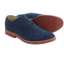 BUKS by Walk-Over Durney Oxford Shoes - Leather, Wingtip (For Men) in Navy Suede - Closeouts