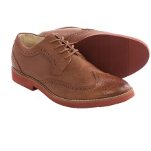 BUKS by Walk-Over Durney Oxford Shoes - Leather, Wingtip (For Men) in Tan Full Grain - Closeouts