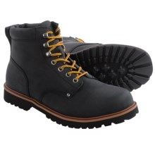 BUKS by Walk-Over Foreman Boots - Leather (For Men) in Black Waxed Suede - Closeouts