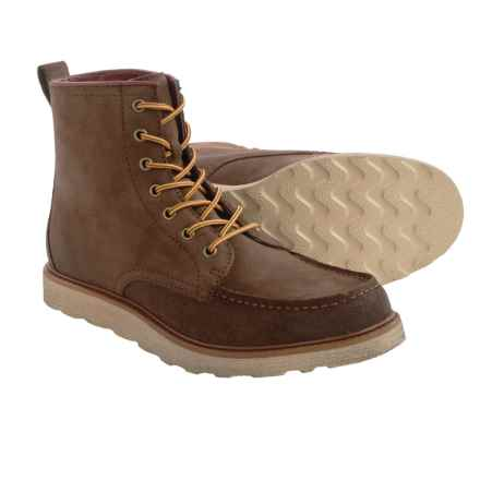BUKS by Walk-Over Porter Boots - Leather (For Men) in Nut Oiled Suede - Closeouts