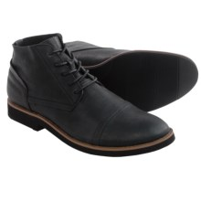 BUKS by Walk-Over Spencer Chukka Boots (For Men) in Black Full Grain - Closeouts