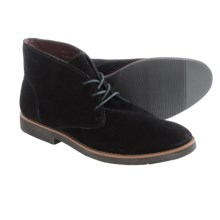 BUKS by Walk-Over Wallen Chukka Boots - Suede (For Men) in Black Suede - Closeouts