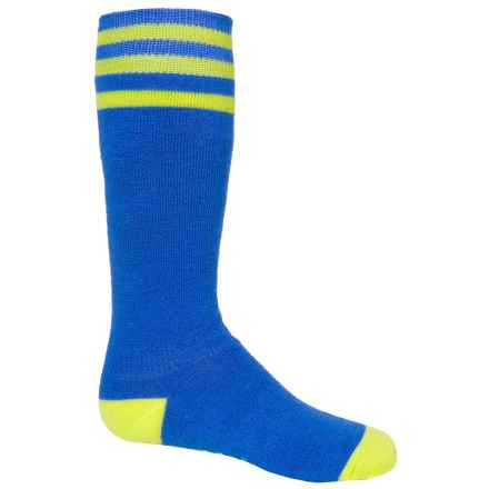Bula Thermal 200 Ball Ski Socks - Merino Wool Blend, Over the Calf (For Little and Big Kids) in Cobalt - Closeouts