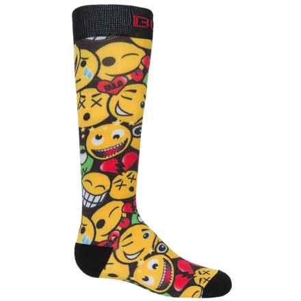 Bula Thermal 200 Print Ski Socks - Over the Calf (For Little and Big Kids) in Happy - Closeouts