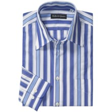 Bullock & Jones Awning Stripe Shirt - Long Sleeve (For Men) in French Blue - Closeouts
