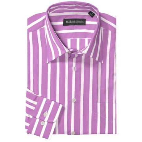 Bullock & Jones Bold Wide Stripe Shirt - Long Sleeve (For Men) in Pink