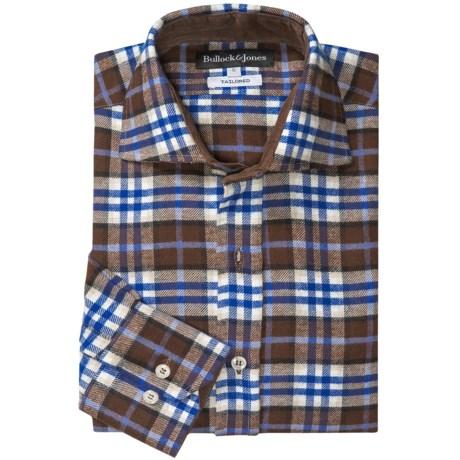 Bullock & Jones Brushed Cotton Shirt - Long Sleeve (For Men) in Brown/Blue