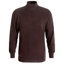 Bullock & Jones Cashmere Mock Turtleneck Sweater (For Men) in Brown - Closeouts